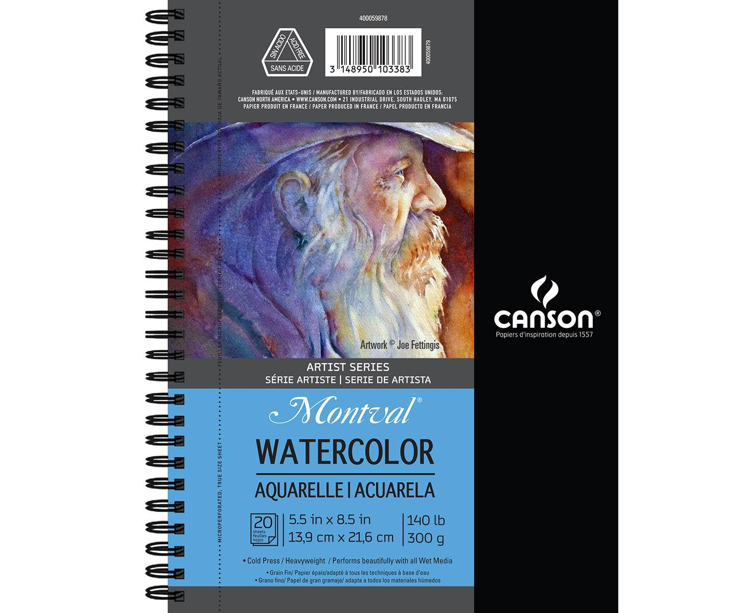"Canson Artist Series Watercolor Pad - 5.5"" x 8.5"" Side Wire"