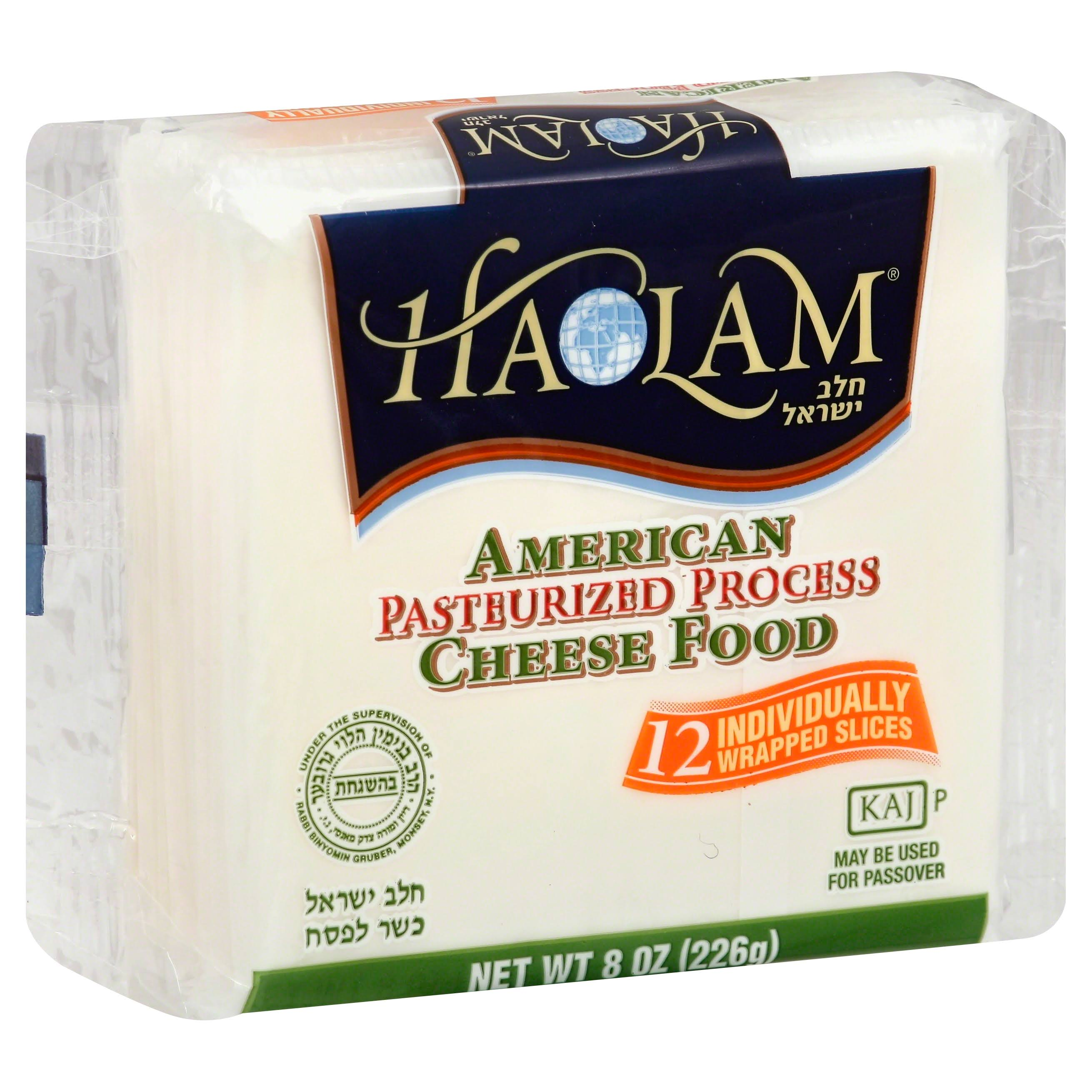 Haolam Cheese Food, Pasteurized Process, American - 12 slices, 8 oz