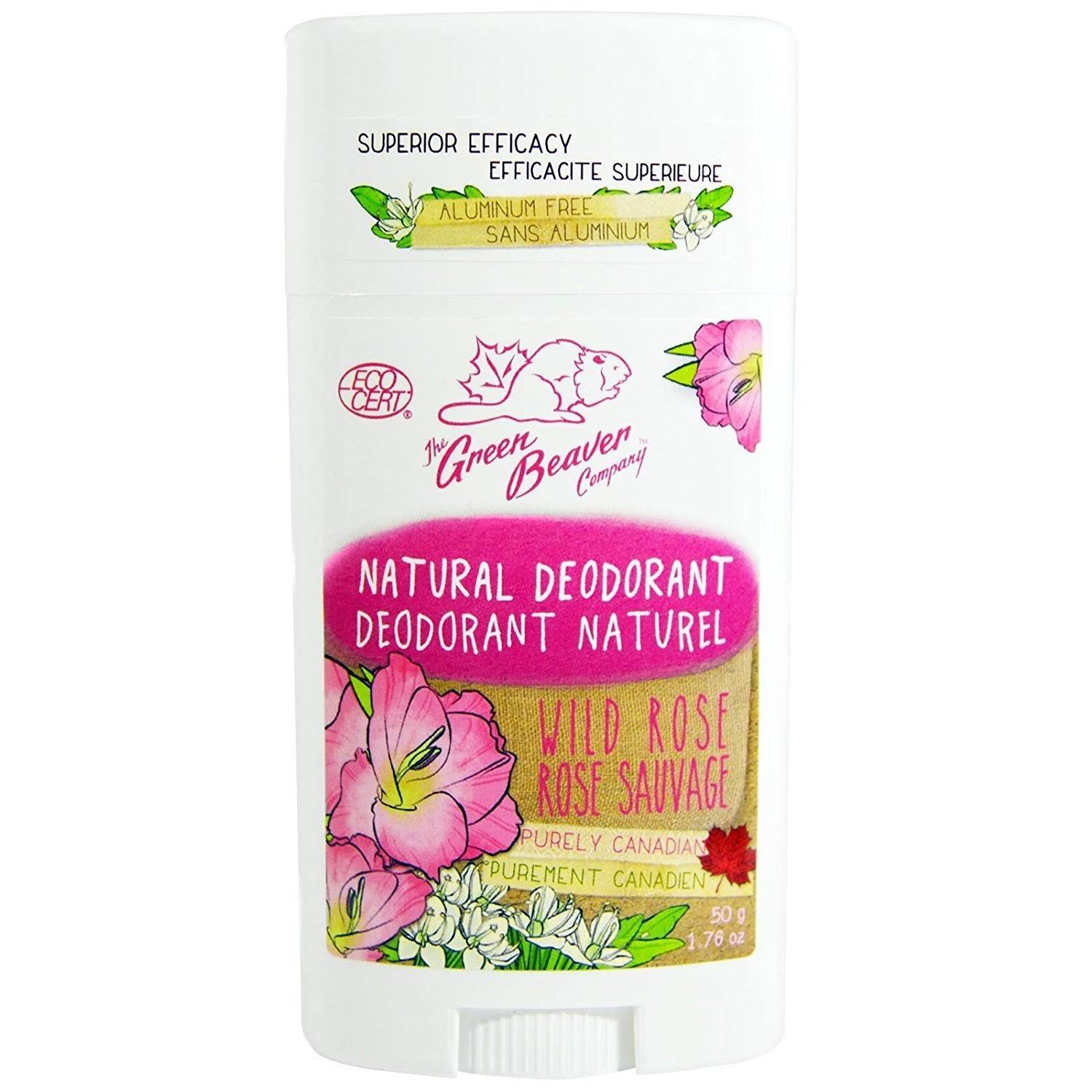 Green Beaver Natural Deodorant - Wild Rose, 50g