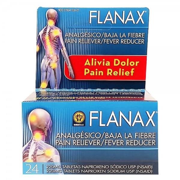 Flanax Pain Reliever and Fever Reducer - 24 Tablets