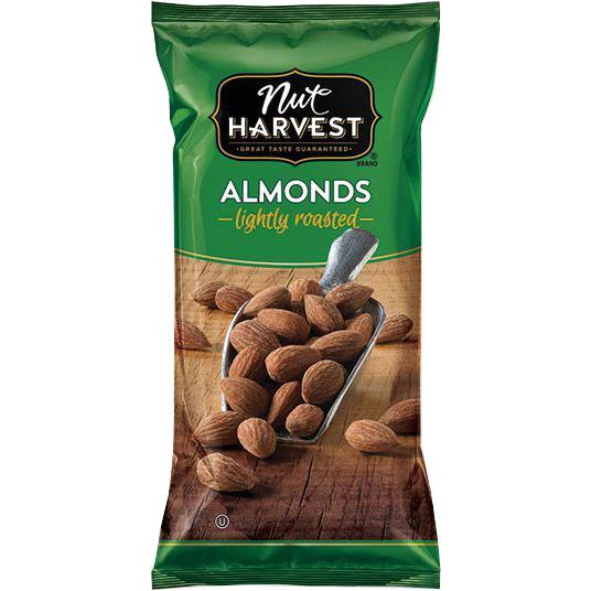 Nut Harvest Lightly Roasted Almonds - 2.25 oz