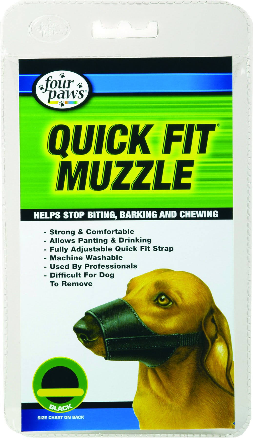 Four Paws Products Quick Fit Dog Muzzle - Size 2