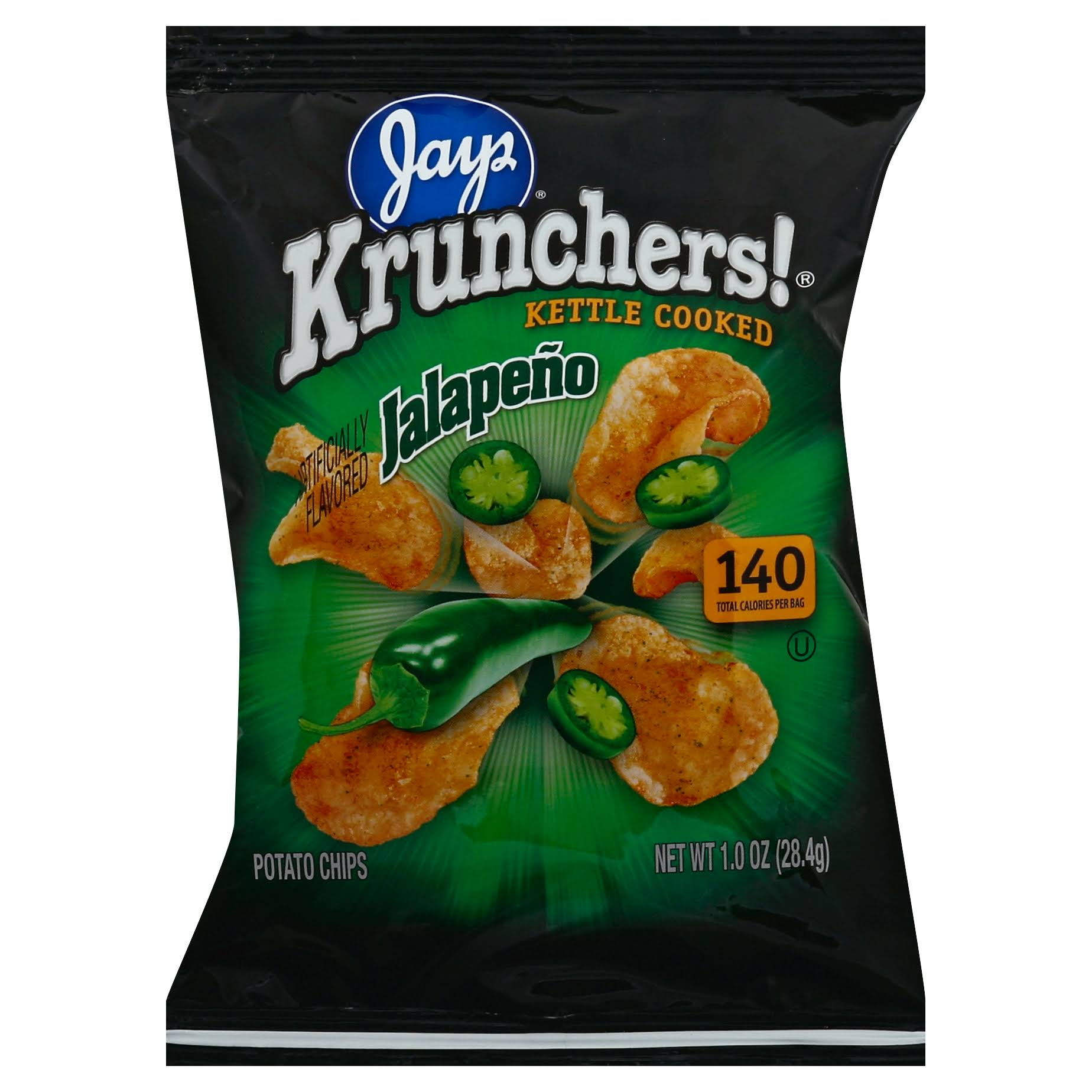 Krunchers Kettle Cooked Potato Chips - Jalapeno