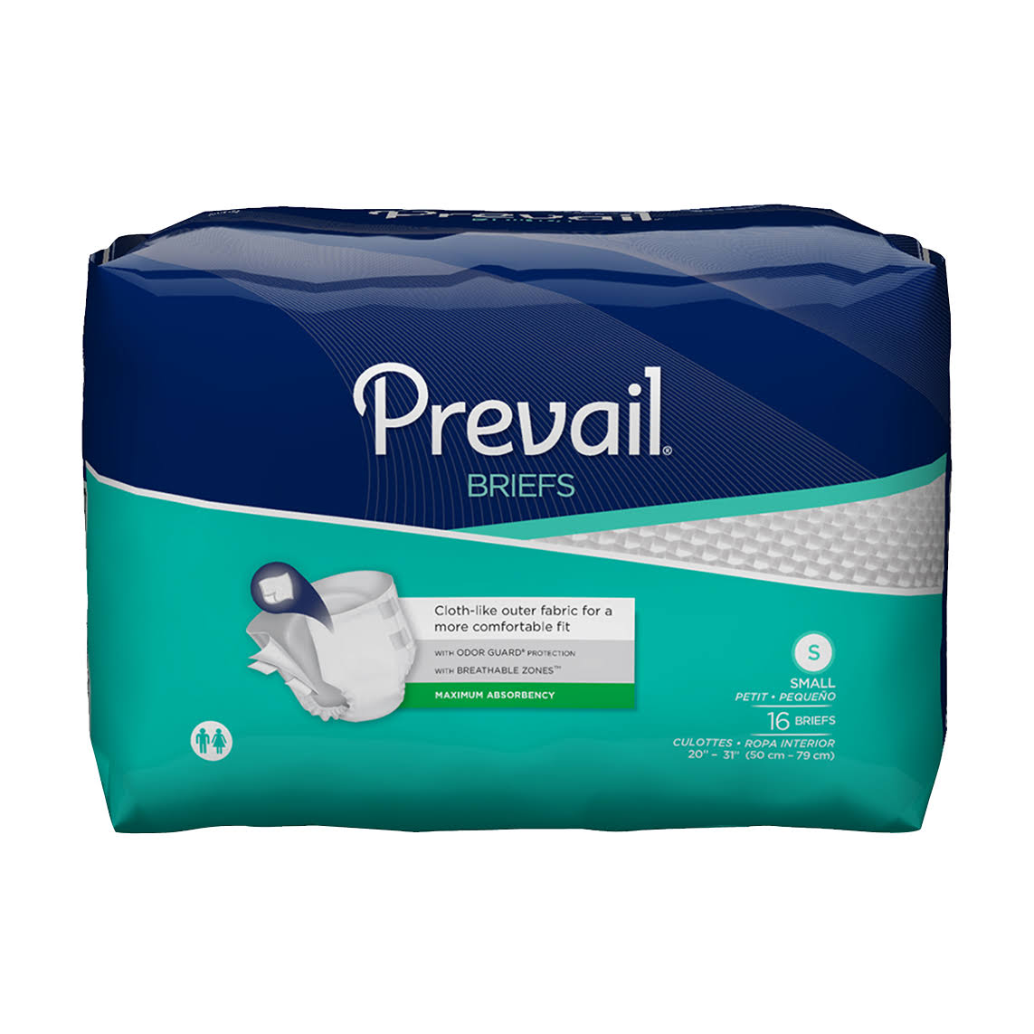 Prevail Maximum Absorbency Adult Briefs - Small, 16ct