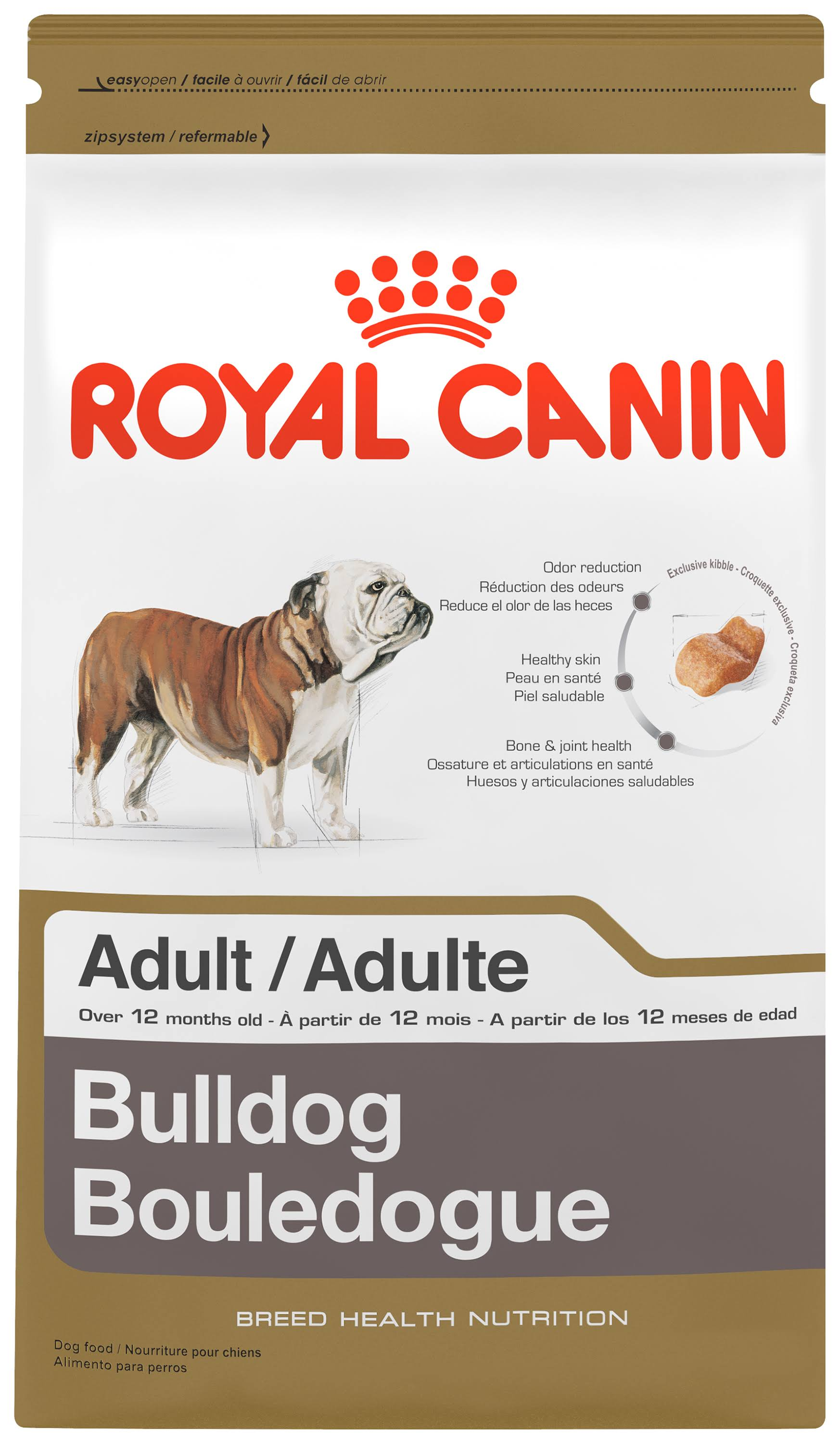 Royal Canin Dry Dog Food - Medium Bulldog 24 Formula, 30lbs