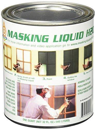 Masking Liquid H20 Varnish - 1 Quart, Clear