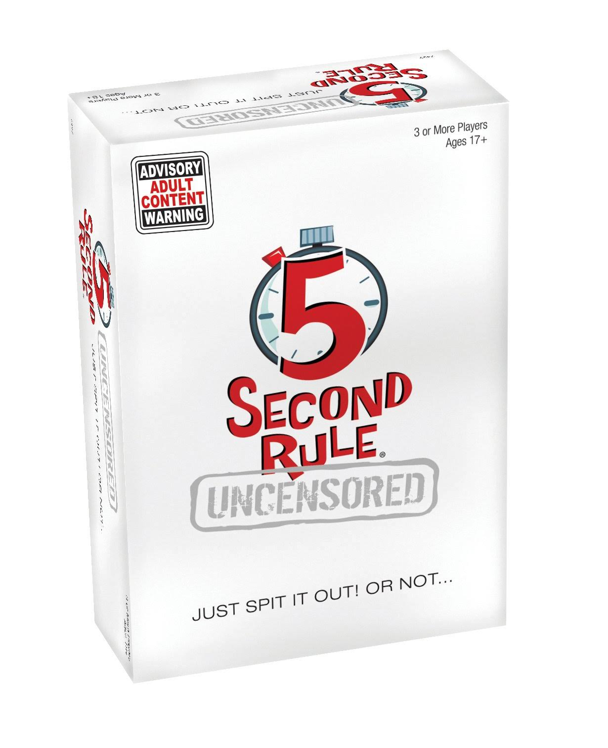 Playmonster 5 Second Rule Uncensored Board Game