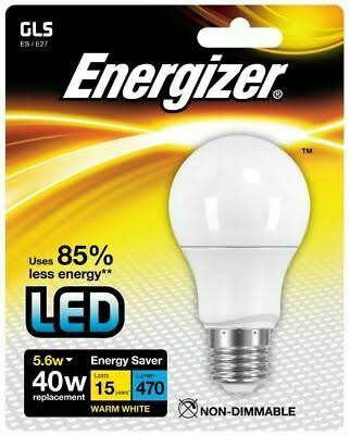 Energizer E27 Warm White Blister Pack GLS - 5.6W