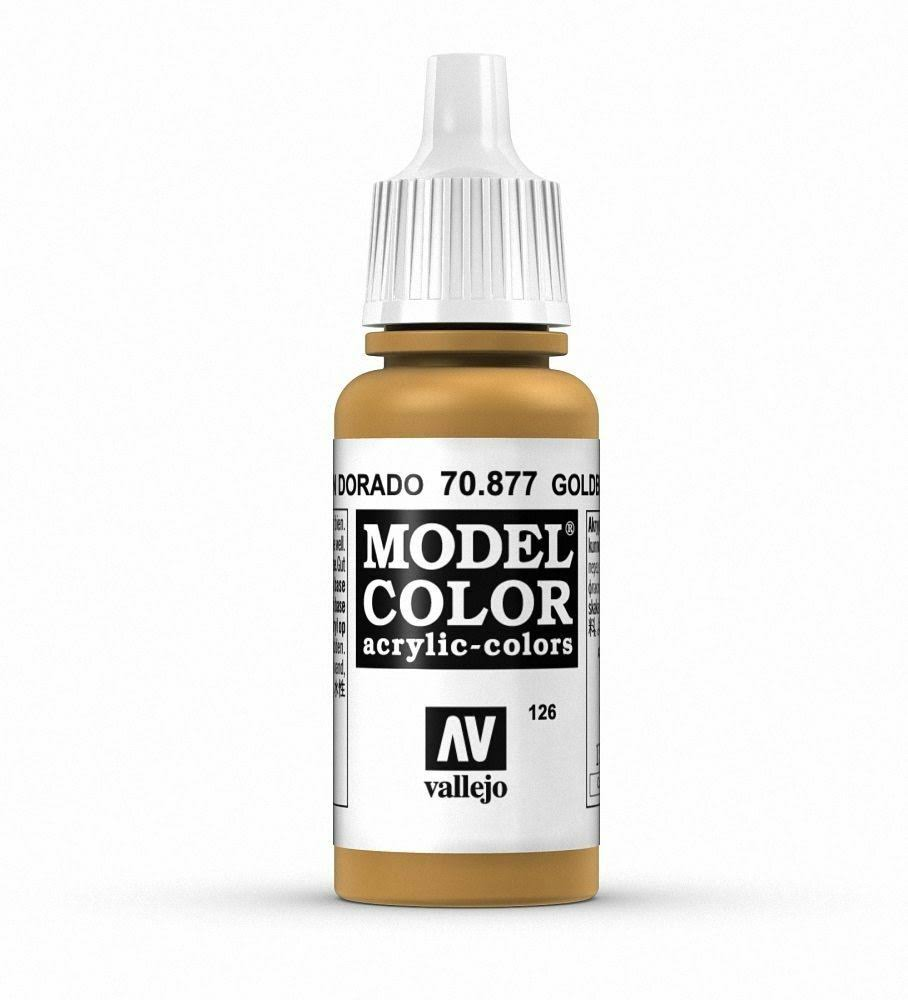 Vallejo Paint Model Color Acrylic Paint - 17ml, Gold Brown