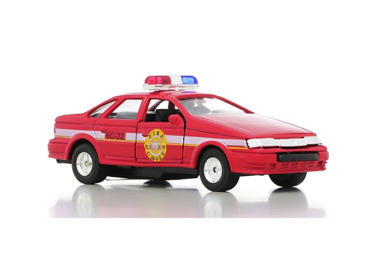 Toysmith Pull Back Die Cast Police Car