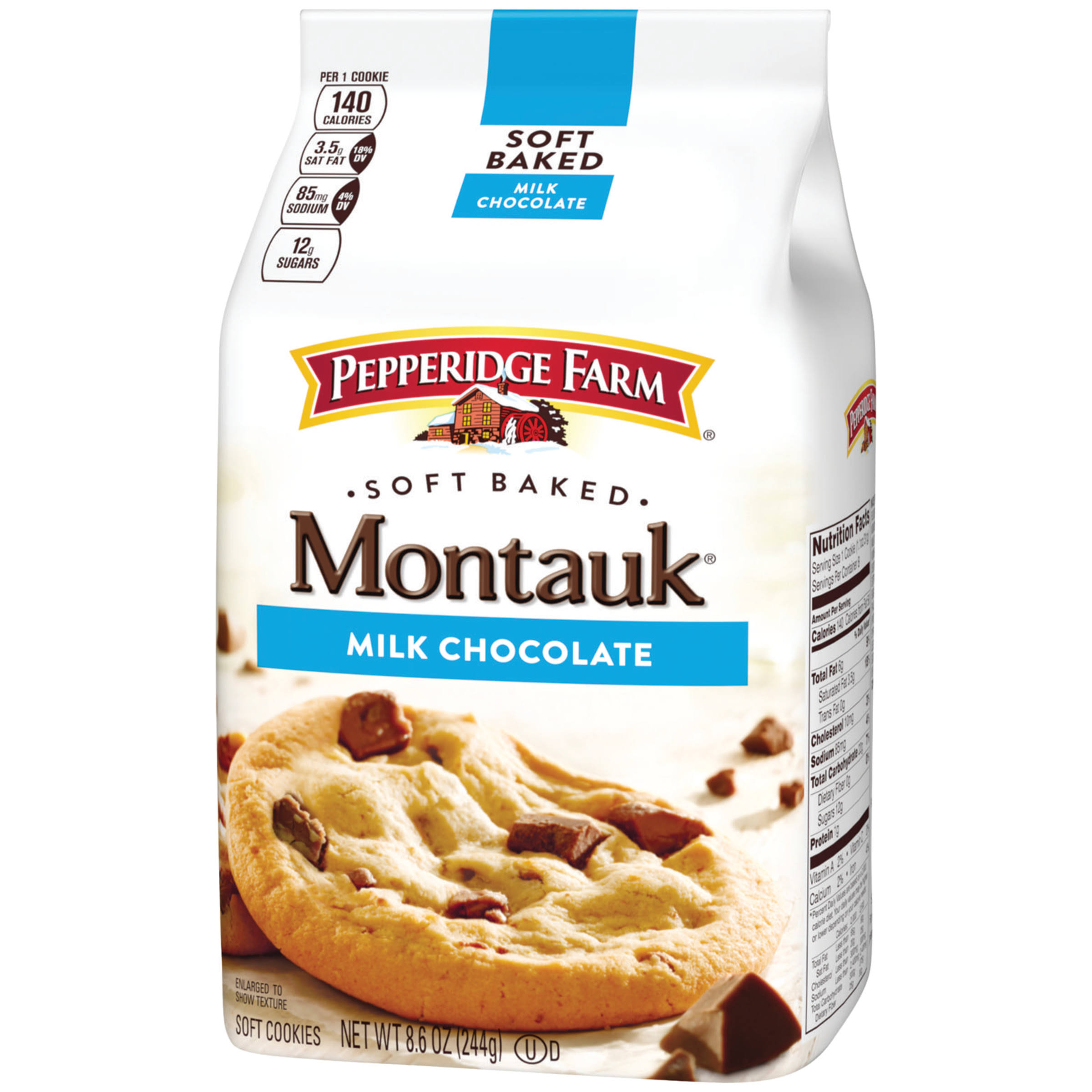 Pepperidge Farm Soft Baked Montauk Cookies - Milk Chocolate, 244g