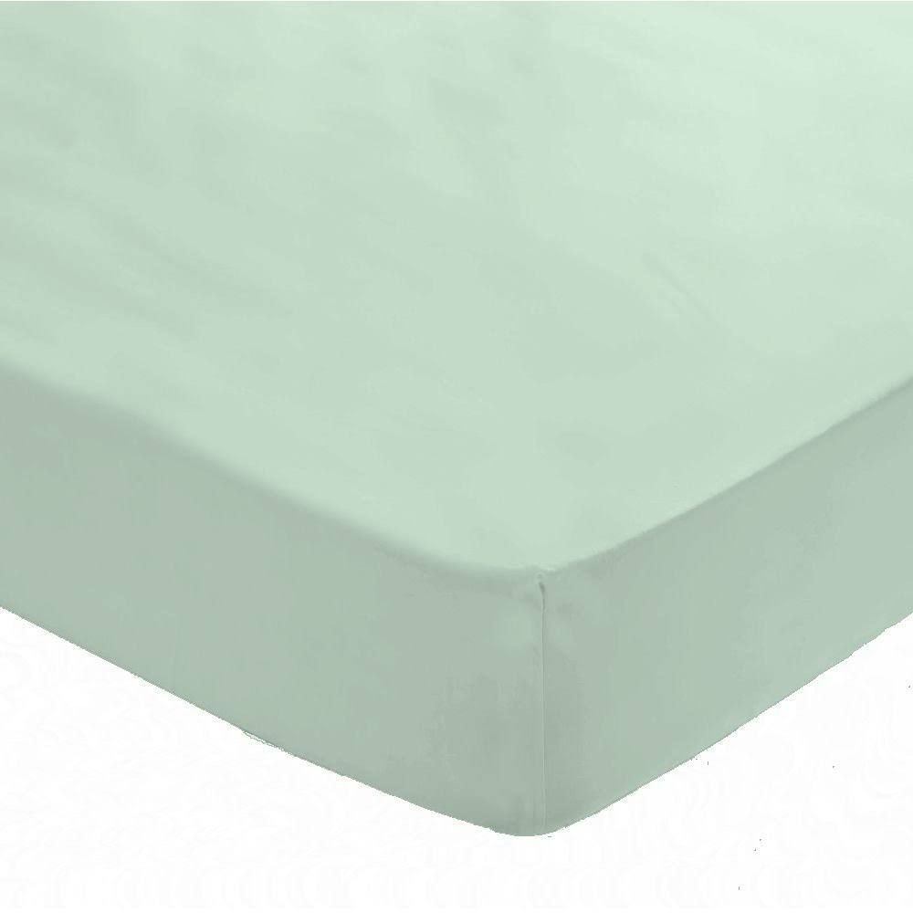 Catherine Lansfield Fitted Sheet, Duck Egg / Double