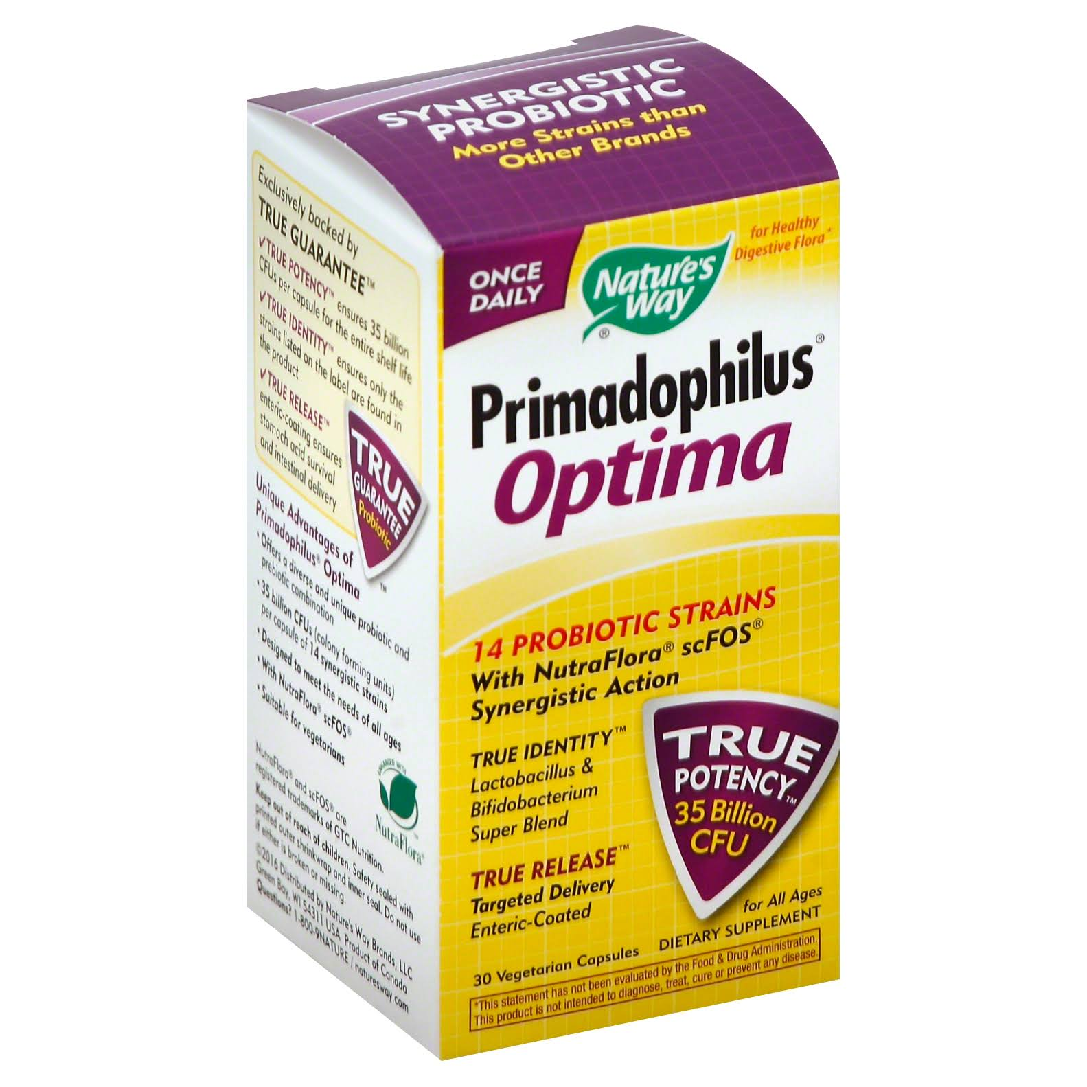 Nature's Way Primadophilus Optima Supplement - 30 Vcaps