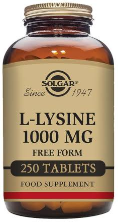 Solgar L-Lysine 1000mg Tablets