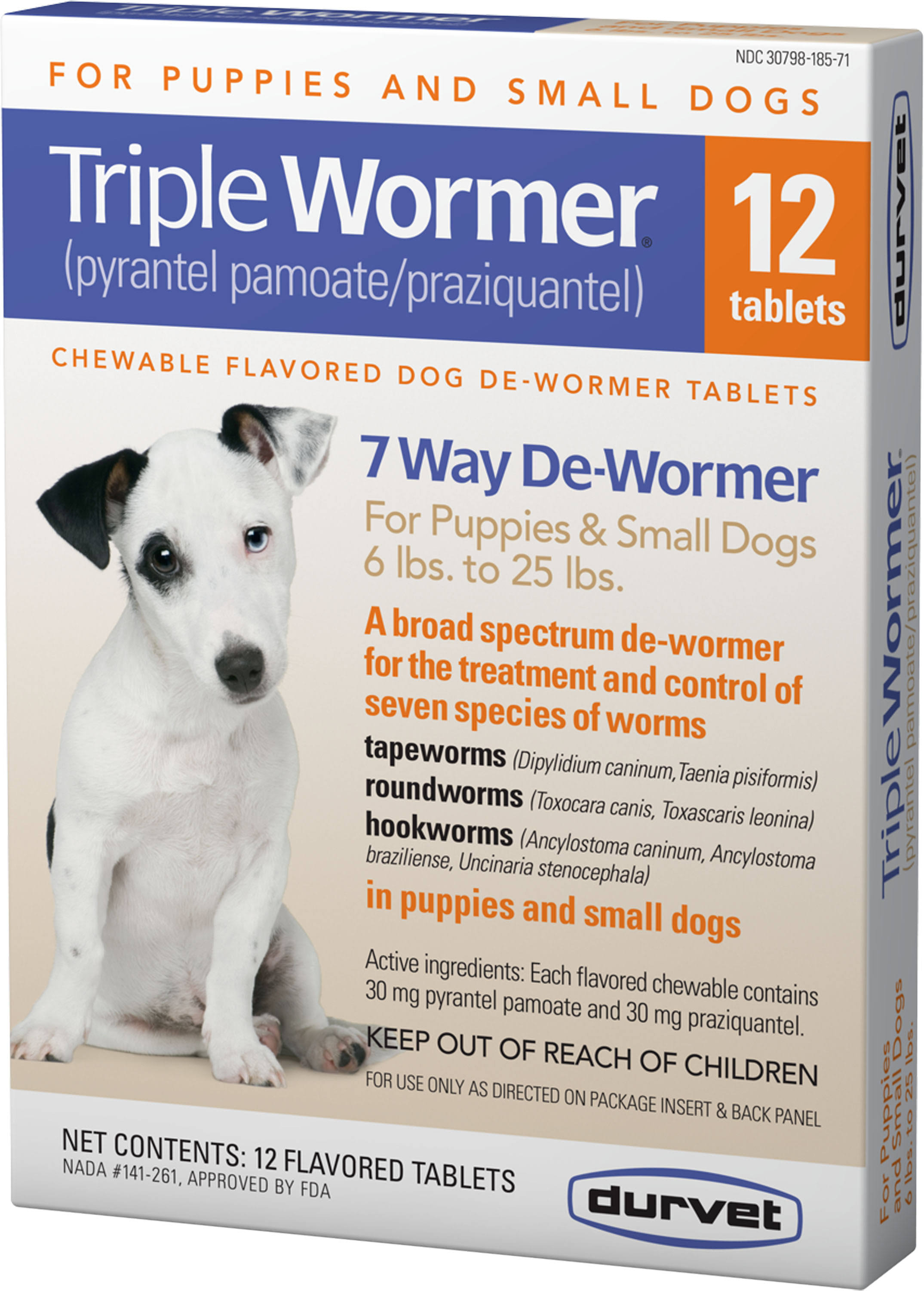 Triple Puppy and Small Dog Wormer - 12 Count