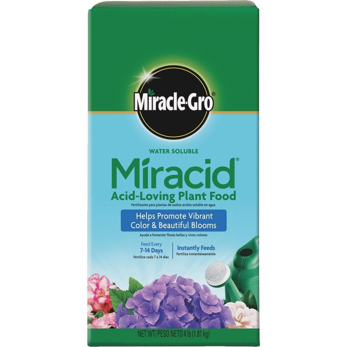 Miracle Gro Garden Pro Water Soluble Miracid Plant Food - 4lb