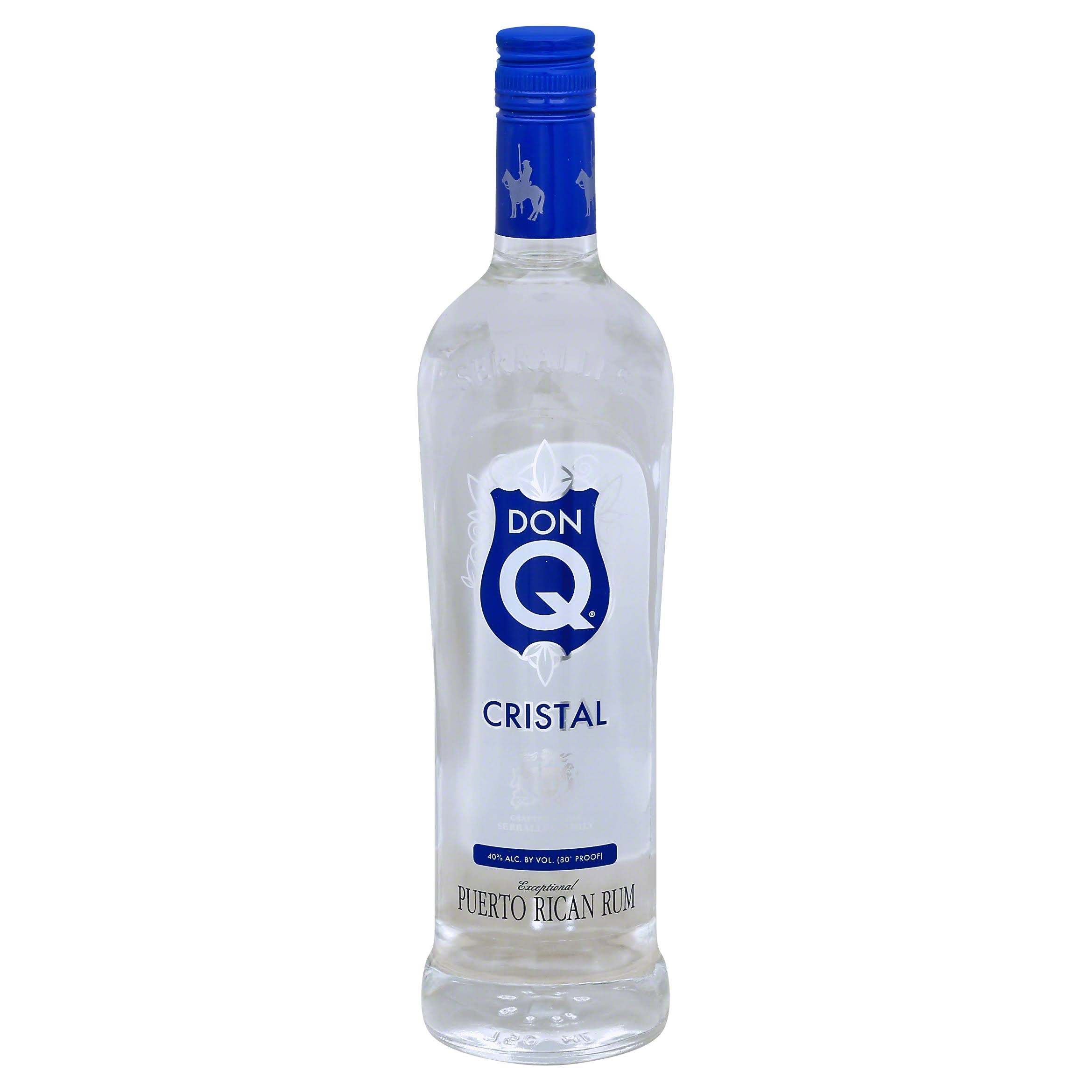 Serralles Don Q Cristal Rum - 750 ml bottle