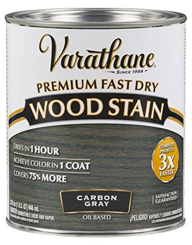 Rust-Oleum 304559 Premium Fast Dry Wood Stain - 32 oz, Carbon Gray