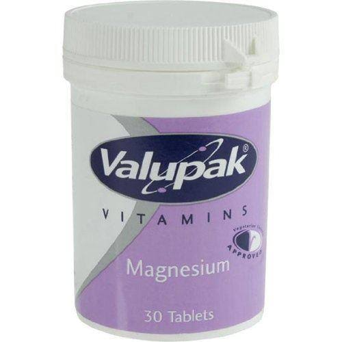 Valupak 187.5mg Magnesium 30 Tablets