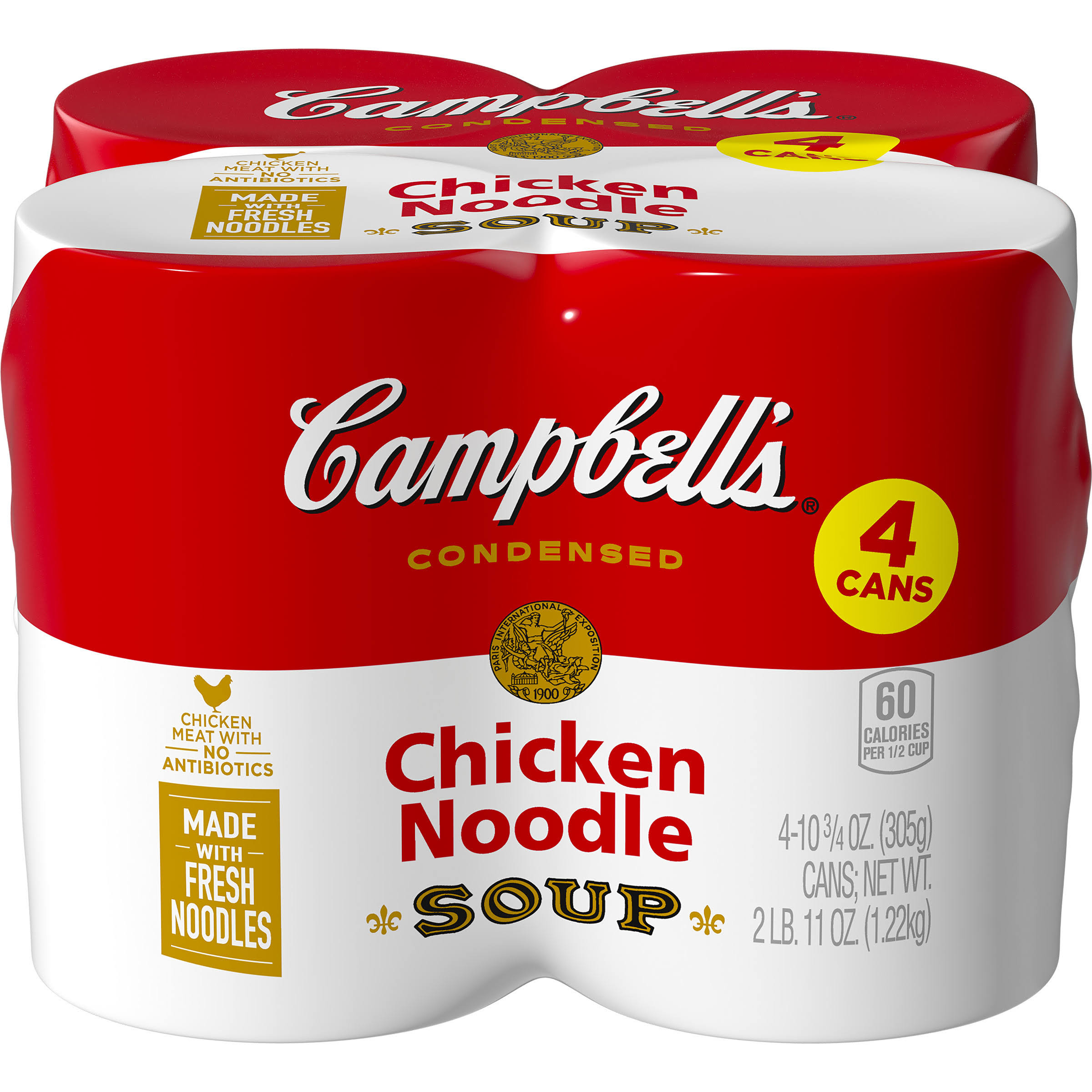Campbells Condensed Chicken Noodle Soup - 10.75oz, 4ct
