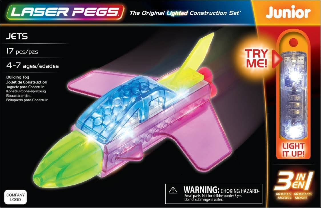 Laser Pegs Jets 3-in-1 Building Toy Set
