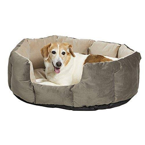 Midwest Homes for Pets QuietTime Deluxe Tulip Pet Bed, Gray