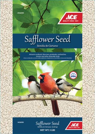 Ace 002001 Safflower Wild Bird Food - 5lbs