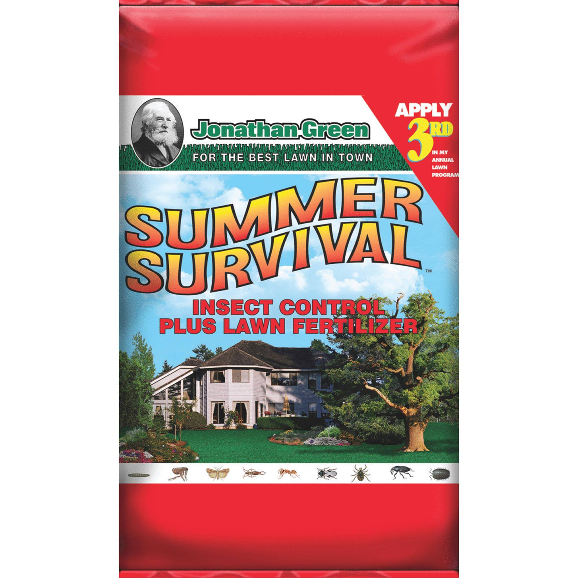 Jonathan Green 12015 Summer Survival Insect Control Plus Lawn Fertilizer - 15m