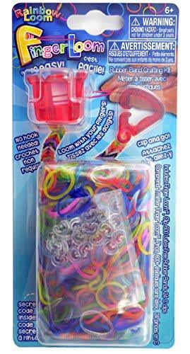 Rainbow Loom Finger Loom Rubber Band Crafting Kit - Red, 600pc