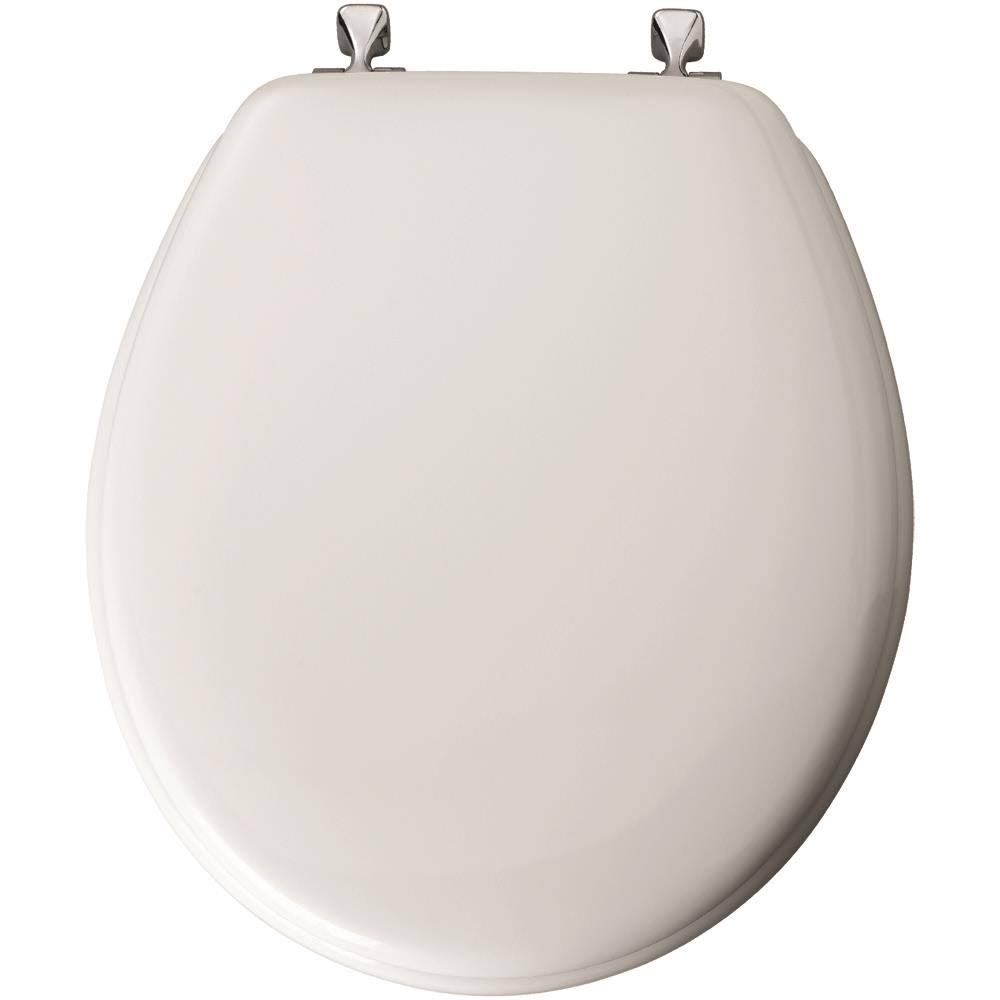 Mayfair Molded Wood Toilet Seat - with Chrome Hinges