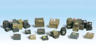 Woodland Scenics Assorted Crates Train Figures - HO Scale