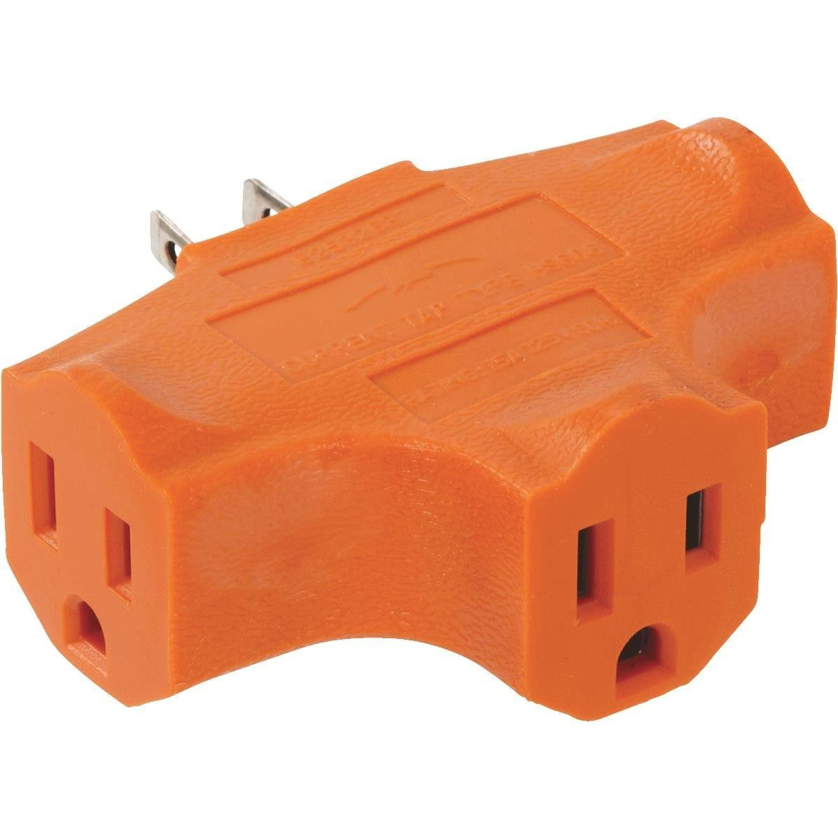 Do It Best 3 Outlet Carded Orange Cube Tap Outlet Adapter