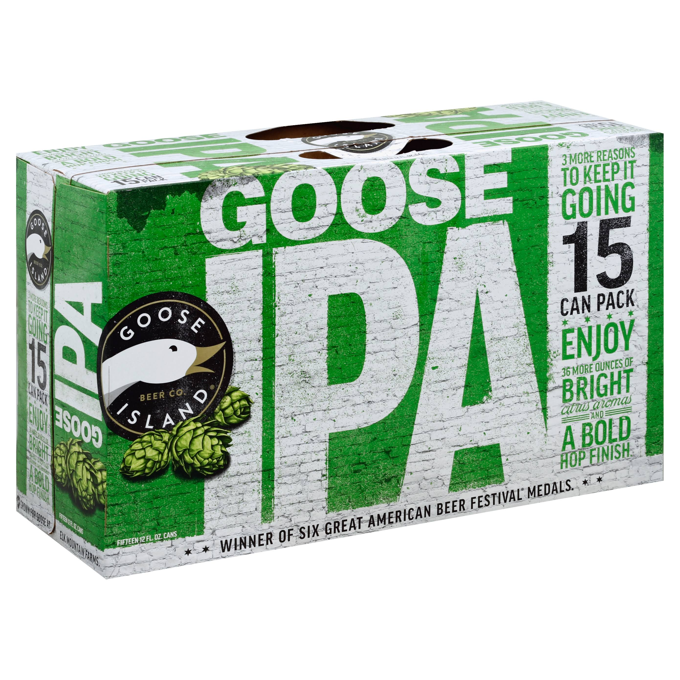 Goose Island Beer, Goose IPA, 15 Can Pack - 15 - 12 fl. oz cans