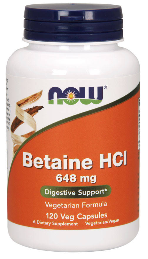 Now Foods Betaine HCl Digestive Enzyme - 120 Capsules