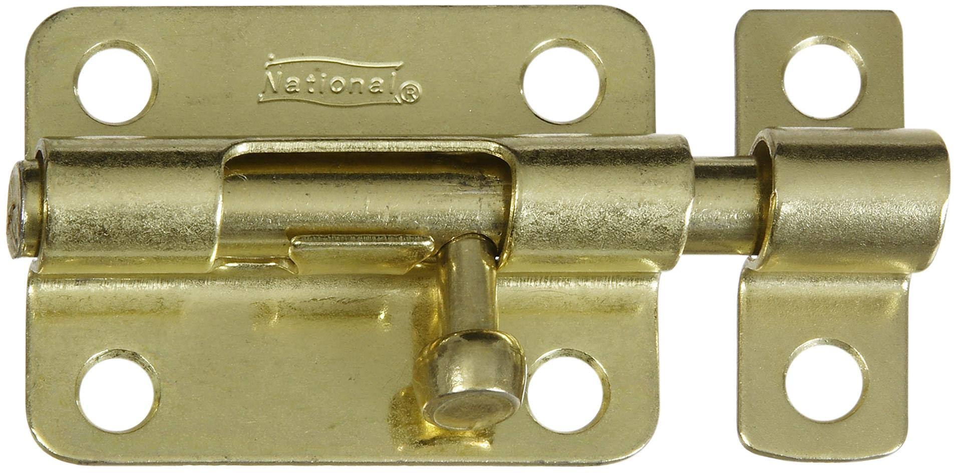National Hardware Barrel Bolt - Brass
