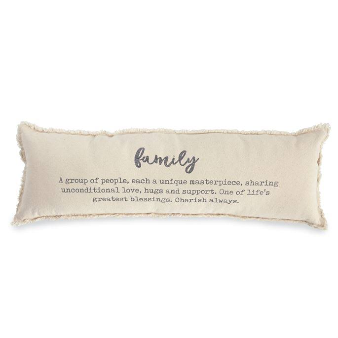 Mud Pie Washed Canvas Family Definition Pillow