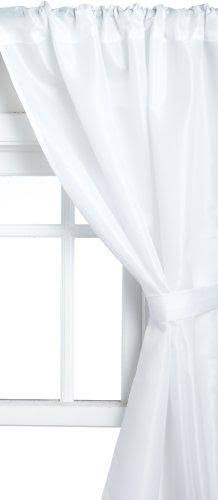 Carnation Home Fashions Polyester Fabric Window Curtain in White