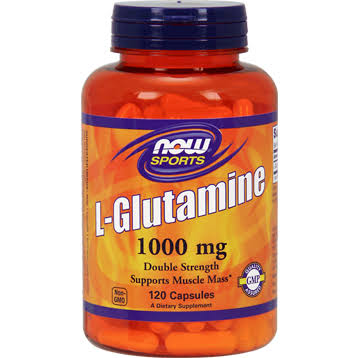 Now Sports L-Glutamine Dietary Supplement - 120 Capsules