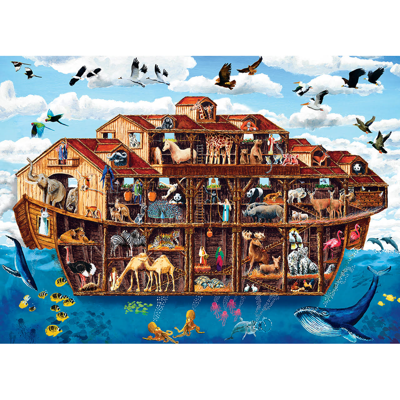 Masterpieces Cut-Aways - Noah's Ark 1000pc EZGrip Puzzle