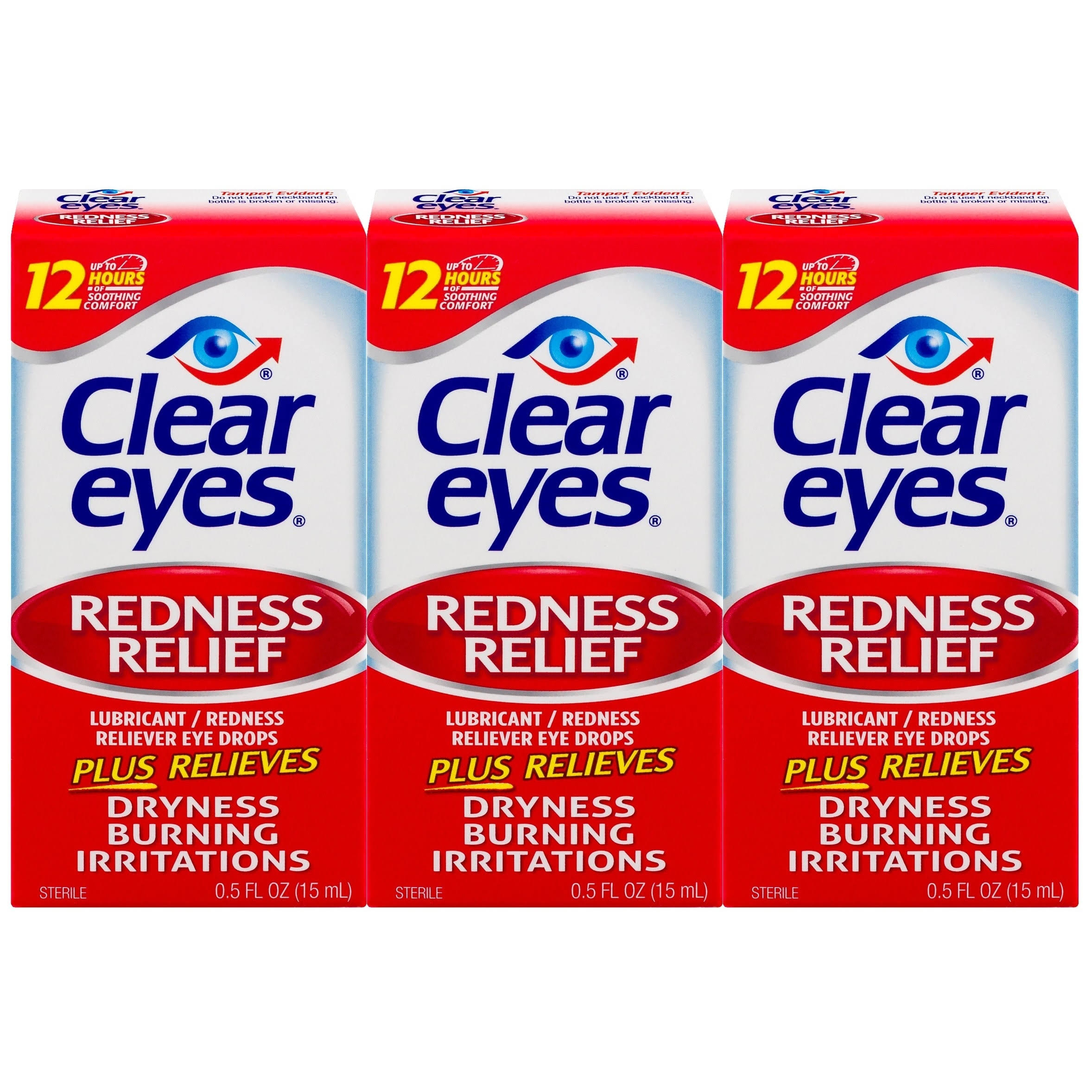Clear Eyes Redness Relief Eye Drops - 0.5oz, 3pk