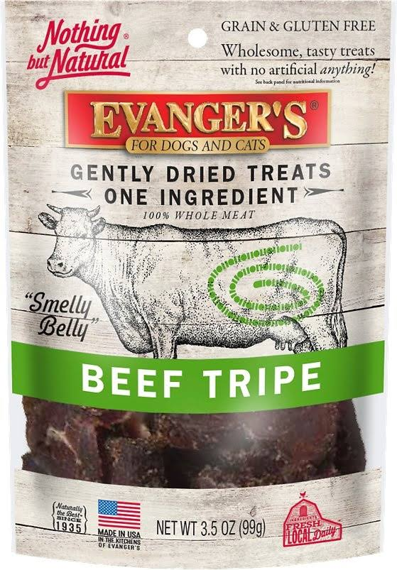 Evanger's Gently Dried Dog Treats - Beef Tripe, 3.5oz