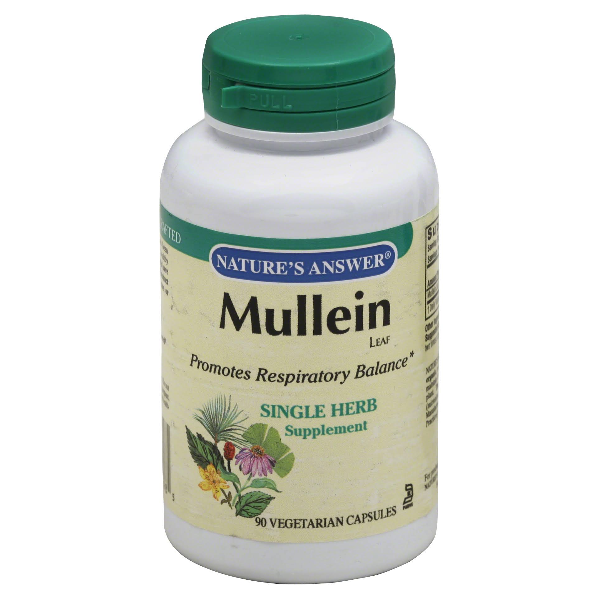 Nature's Answer Mullein Leaf Supplement - 90 Vegetarian Capsules