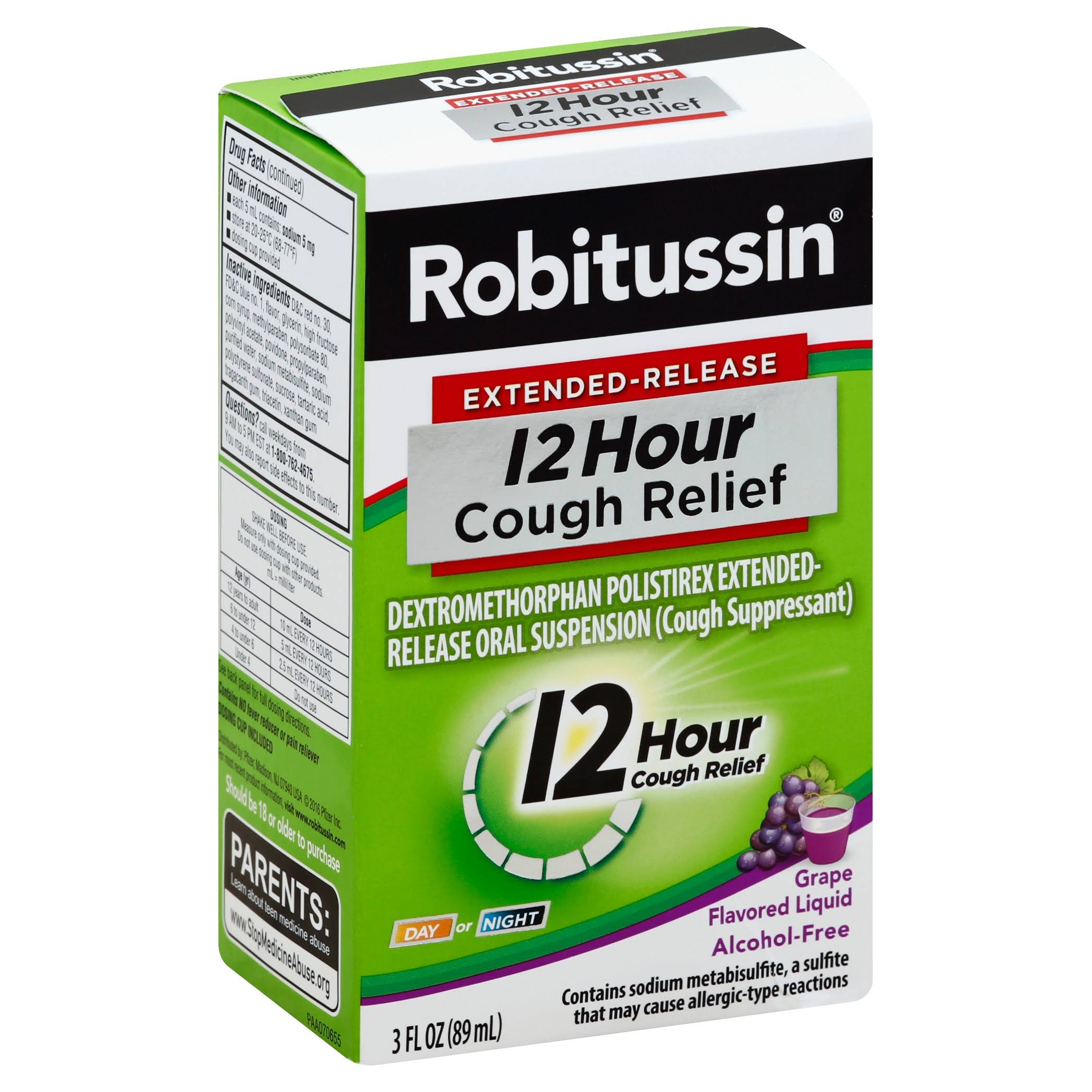 Robitussin Extended-Release 12 Hour Cough Relief - Grape, 3oz