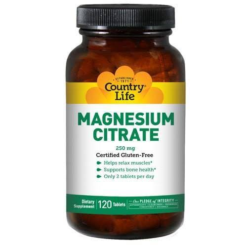 Country Life Magnesium Citrate 250 mg 120