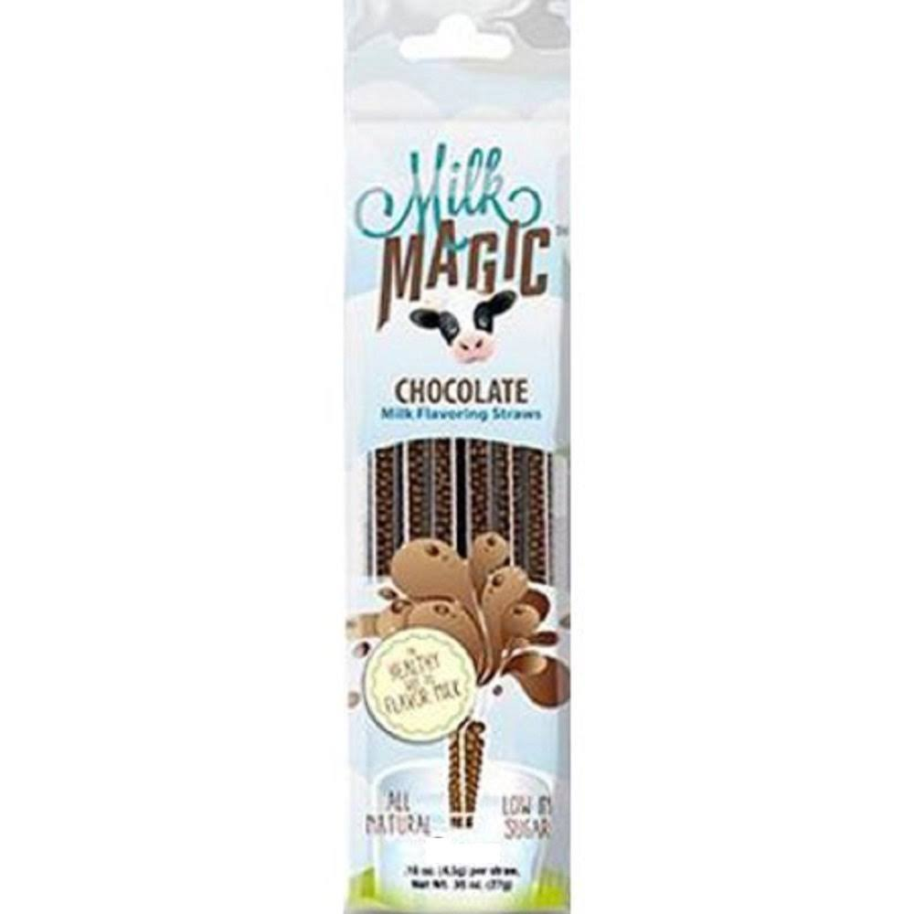 Milk Magic Milk Flavoring Straws - Chocolate , .18oz, 4ct