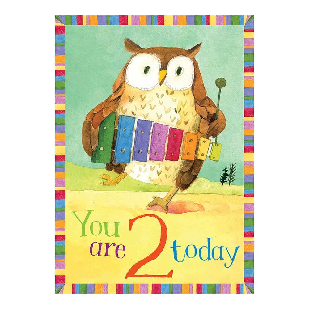 eeBoo Birthday Card Owl 2