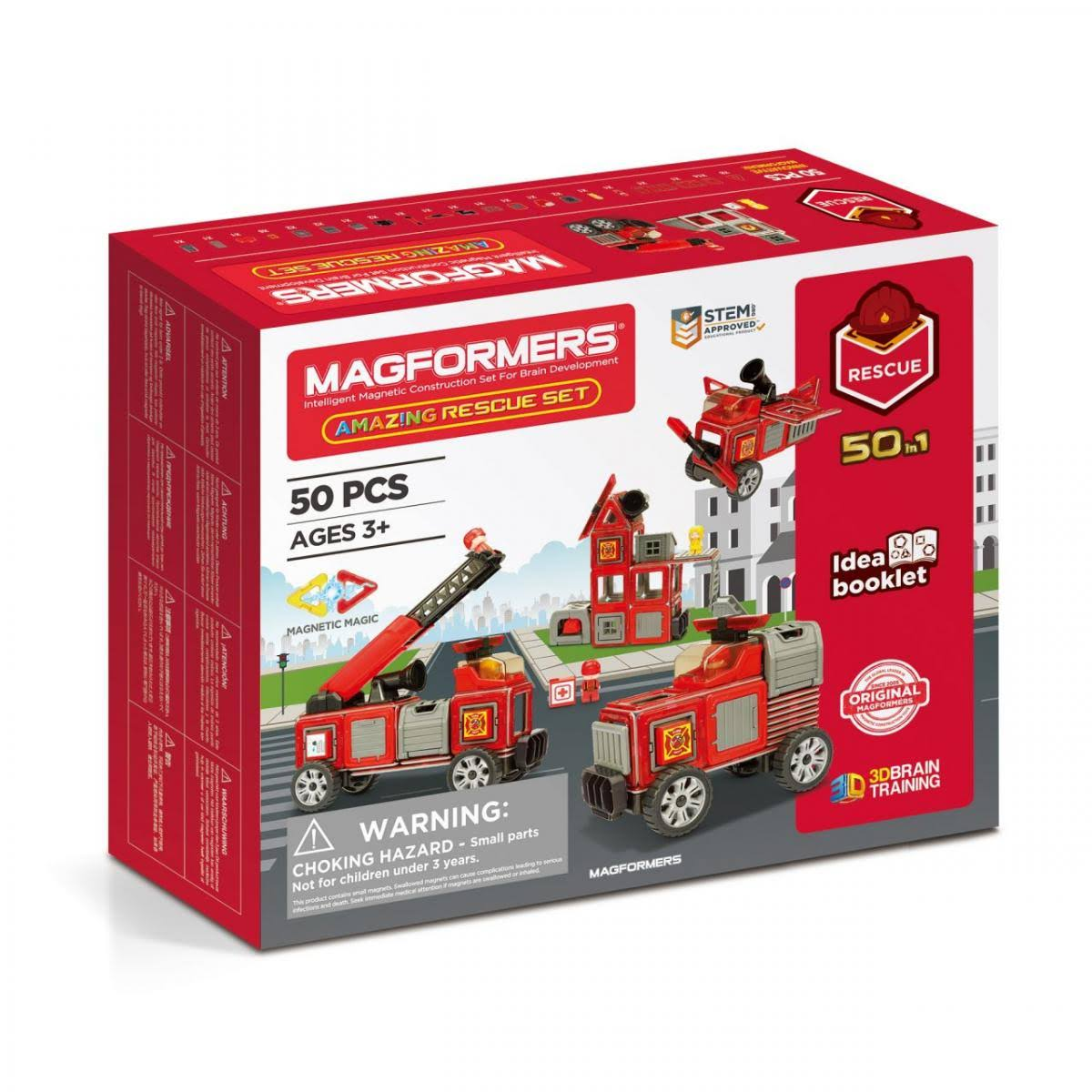 Magformers 50-Piece Amazing Rescue Set