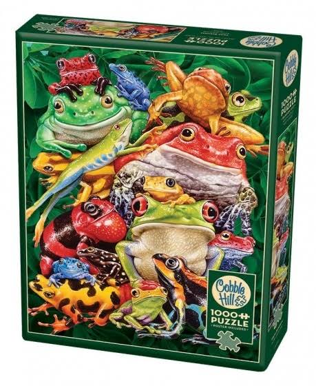 Cobble Hill Frog Business 1000 Piece Jigsaw Puzzle