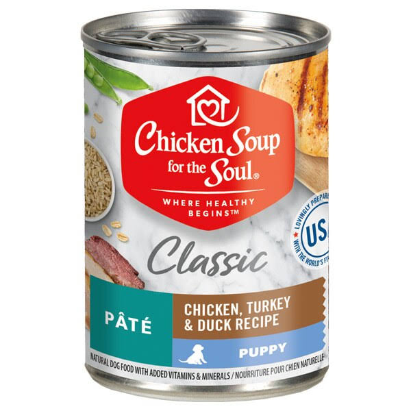 Chicken Soup for The Soul 13oz Chicken, Turkey & Duck Pate Puppy Canned Food