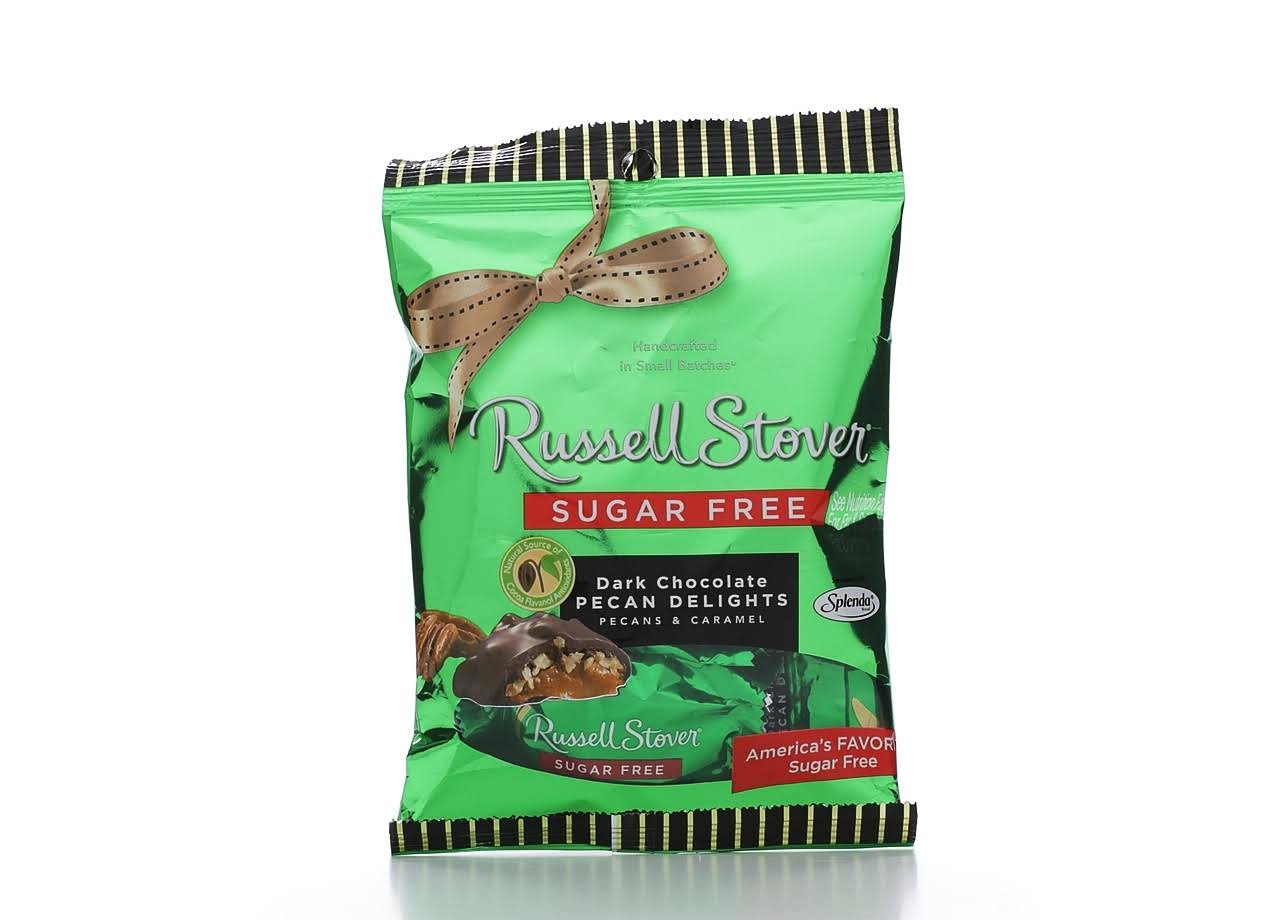 Russell Stover Sugar Pecan Delights - Dark Chocolate, 3oz